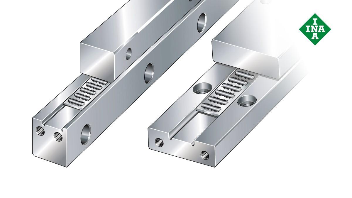 Schaeffler-lineairgeleidingen: J/S-geleidingsrails met vlakke kooi voor naaldrollen