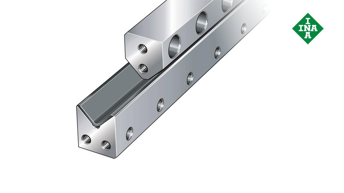 Schaeffler-lineairgeleidingen: M-geleidingsrails met glijarmatuur en V-rails