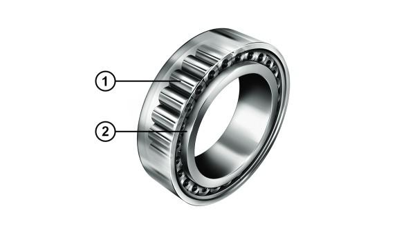 INA-cilinderrollagers met geoptimaliseerd boordcontact